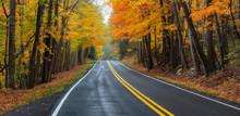 Scenic Drive In Autumn - Virgi...