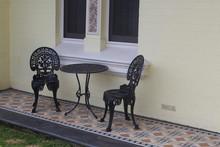 Painted Black Wrought Iron Gar...