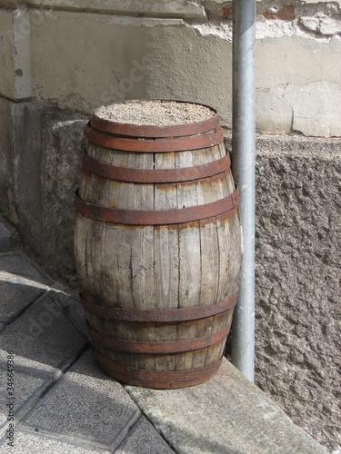 wine barrel cask Canvas Print