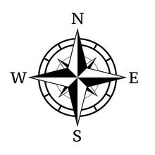 Vintage Compass Icon.Vector Il...