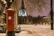 Leinwandbild Motiv Sheffield Cathedral Against Sky During Winter