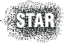 Star Dot Print Embroidery Grap...