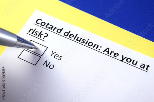 Valokuva Cotard delusion: Are you at risk? Yes or no?