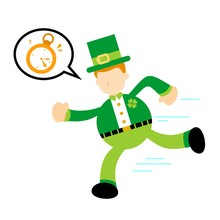 Leprechaun Run For Clock Time ...