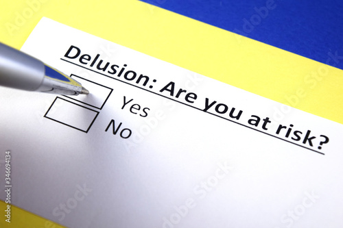 Delusion: Are you at risk? Yes or no? Canvas-taulu