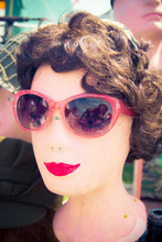 Close-up Of Mannequin Wearing Sunglasses