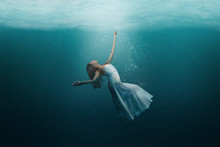 Dancer Underwater In A State O...