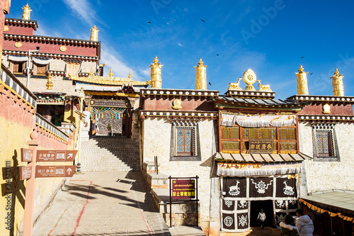 Songzanlin Temple or the Ganden Sumtseling Monastery also known as little Potala Fototapet