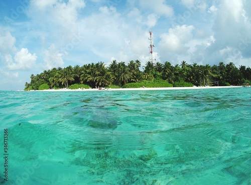 Fotografie, Obraz Scenic View Of Sea By Beach Against Sky