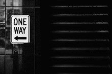 One Way Sign On Wall