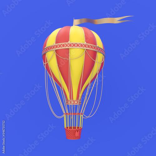 Fototapeta 3d render illustration of hot air balloon