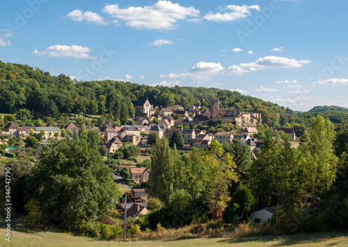 The Village of Carlux in Dordogne valley, Aquitaine,  France Wallpaper Mural
