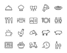 Set Of Restaurant Icons, Food,...