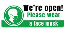 Please Wear A Face Mask And Ke...