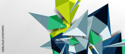 Fototapeta Trendy simple triangle abstract background, dynamic motion concept. Vector Illustration For Wallpaper, Banner, Background, Card, Book Illustration, landing page obraz