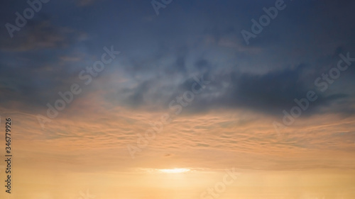 background of beautiful coudscape at sunset Canvas Print