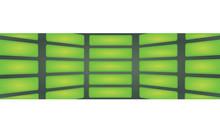 Green Rectangles Background. Vector Illustration