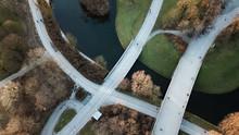 Modern Bridge Over Still Water