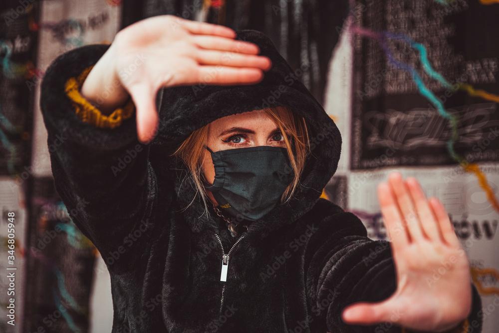 Fototapeta Street wear in pandemic time