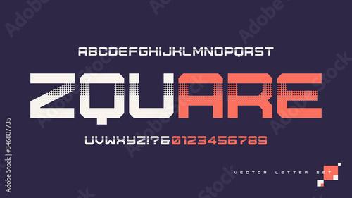 Fotografia Contemporary geometric uppercase letter set, vector alphabet, typography