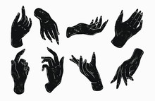 Simple Hand Illustrations In S...