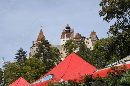 Bram Romania, 29th of September: Bran Castle view from Poiana Regelui park Canvas Print