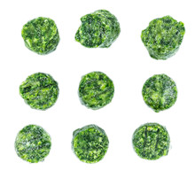 Portion Of Frozen Spinach Isol...