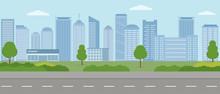 Modern City. City Life Illustr...