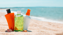Bottles Of Sun Protection Loti...