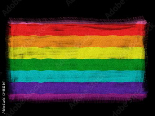 Fotografie, Obraz Gay Pride 1978 Original Flag Colors - Grunge Effect Vector