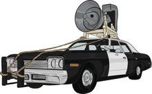 Cartoon American Classic Car, ...