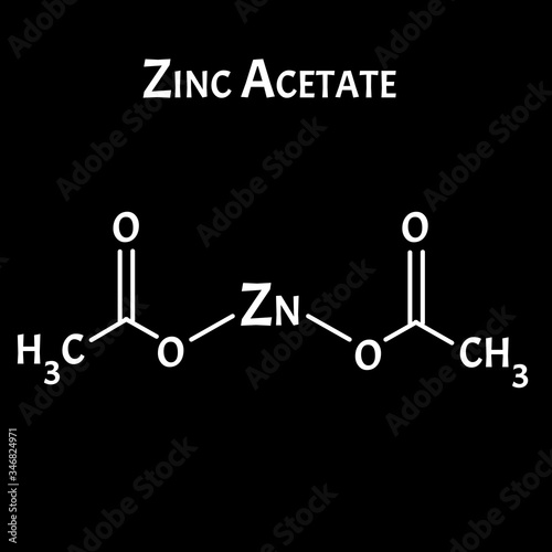 Obraz na plátně Zinc Acetate is a molecular chemical formula