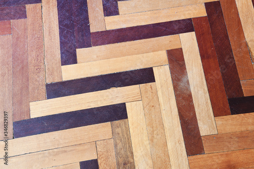Fotografia, Obraz wood specimen from different tropical hardwood that grow in Indonesia