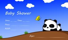 Baby Shower Panda Cute Sky But...