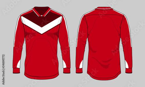 Fotografía Football soccer jersey design template set vector long sleeve