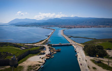Aerial Drone View Of Lefkada C...