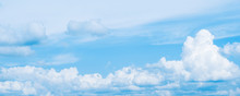 Banner. Blue Sky Background. B...