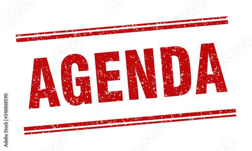 Photo agenda stamp. agenda label. square grunge sign