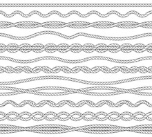 Nautical Ropes Monochrome Outl...