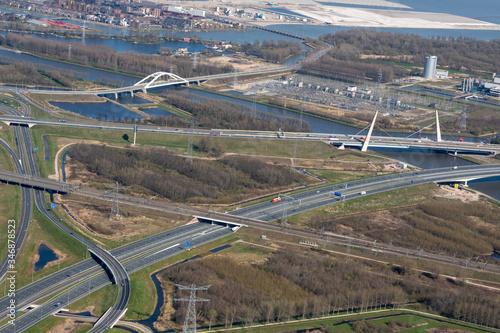 Birds eye view of Diemen junction, The Netherlands Canvas Print