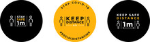 Keep Distance Signage Icon