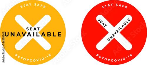 Obraz Seat unavailable signage icon - fototapety do salonu