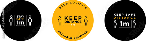 Keep distance signage icon Fototapet