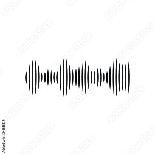 Audio signal icon design isolated on white background Fototapete