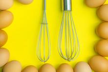 Chicken Eggs, Brown Eggs, Brok...