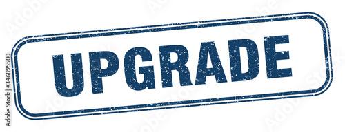 Cuadros en Lienzo upgrade stamp. upgrade square grunge sign. label