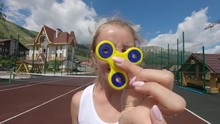 Close-up Game With A Spinner: ...