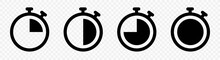 Timer Icon Collection. Symbol ...