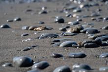 Steine Am Strand, Schwarzer Sa...
