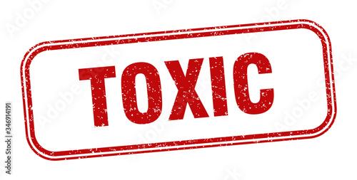 Fotografia, Obraz toxic stamp. toxic square grunge sign. label